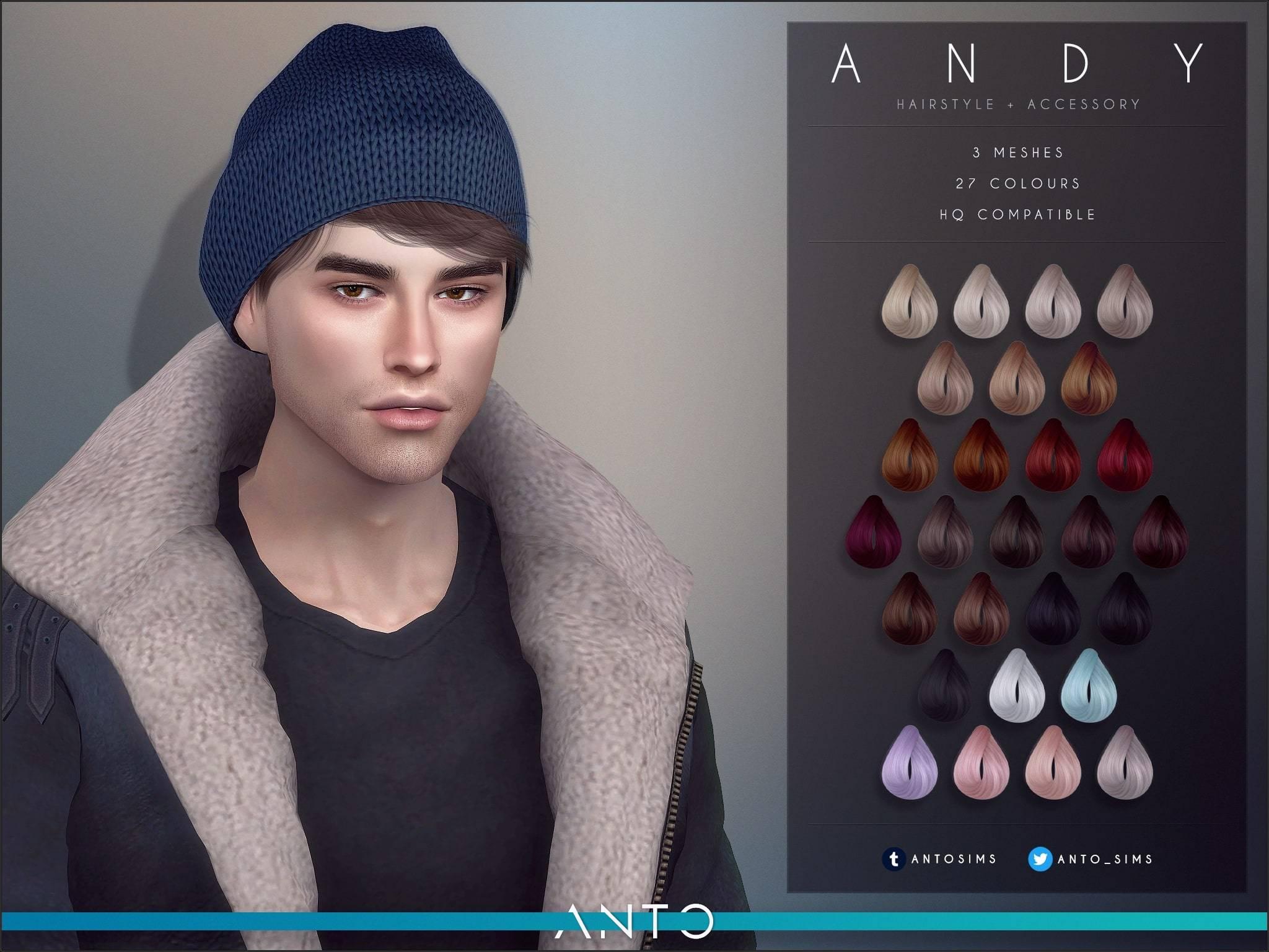 Мужская прическа - Andy