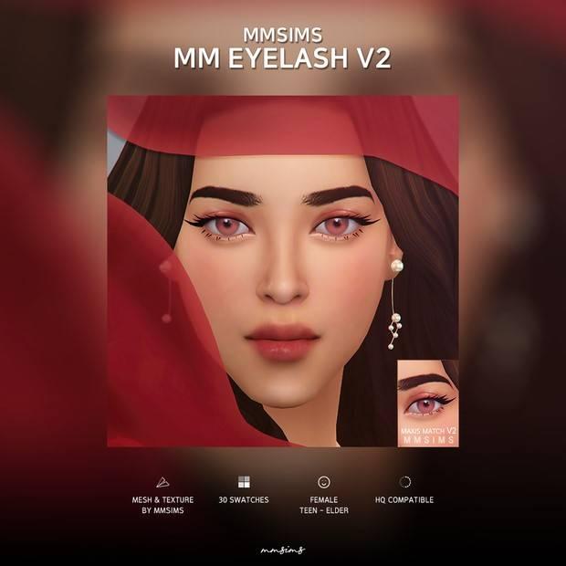 Ресницы - Eyelash Maxis Match v2