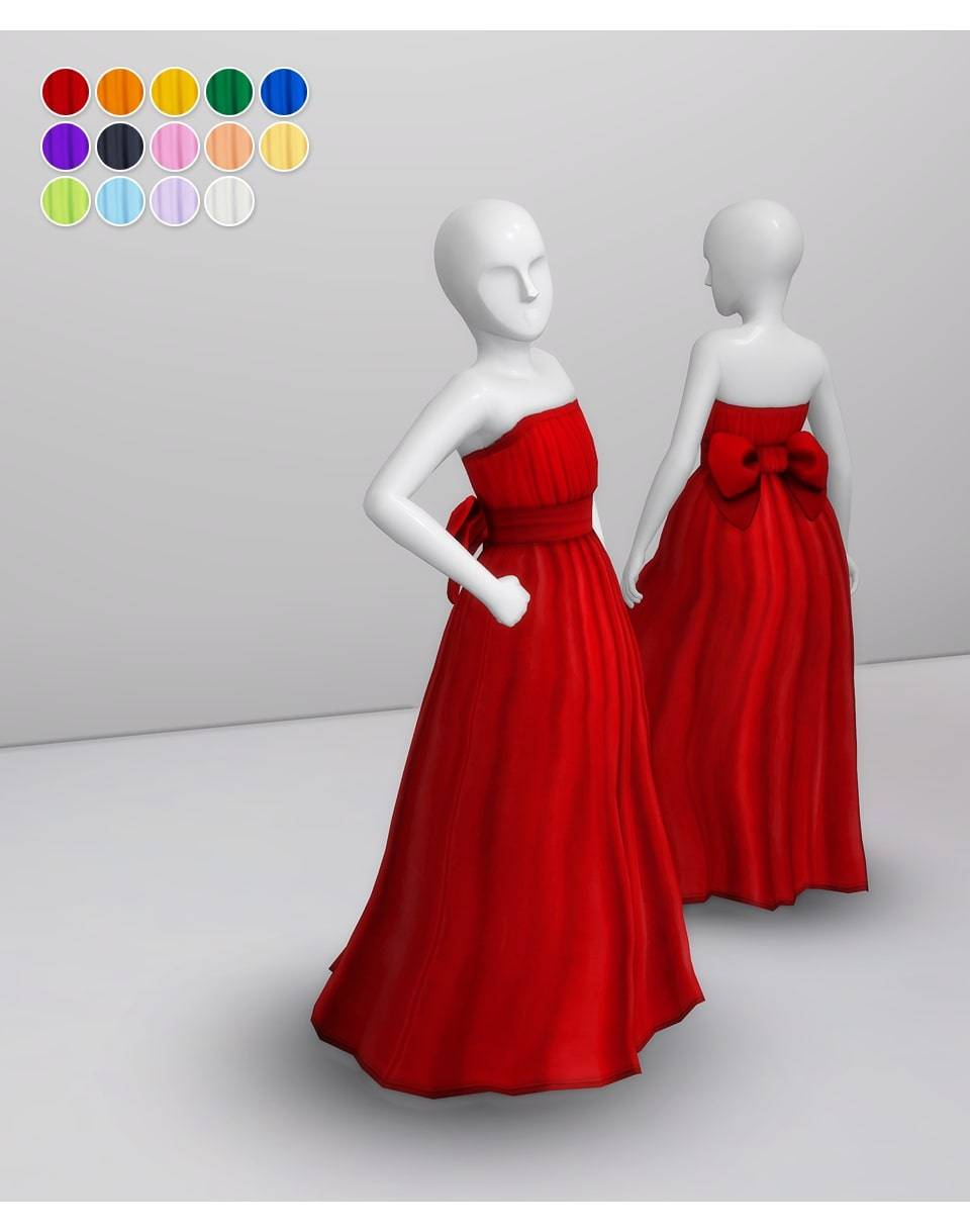 Платье - Ribbon Gown for Kids