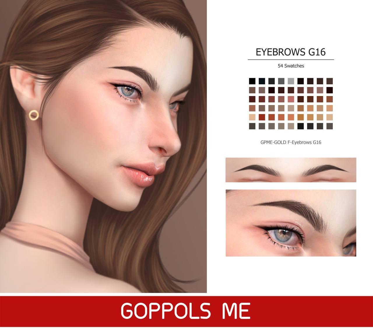Брови - Eyebrows G16