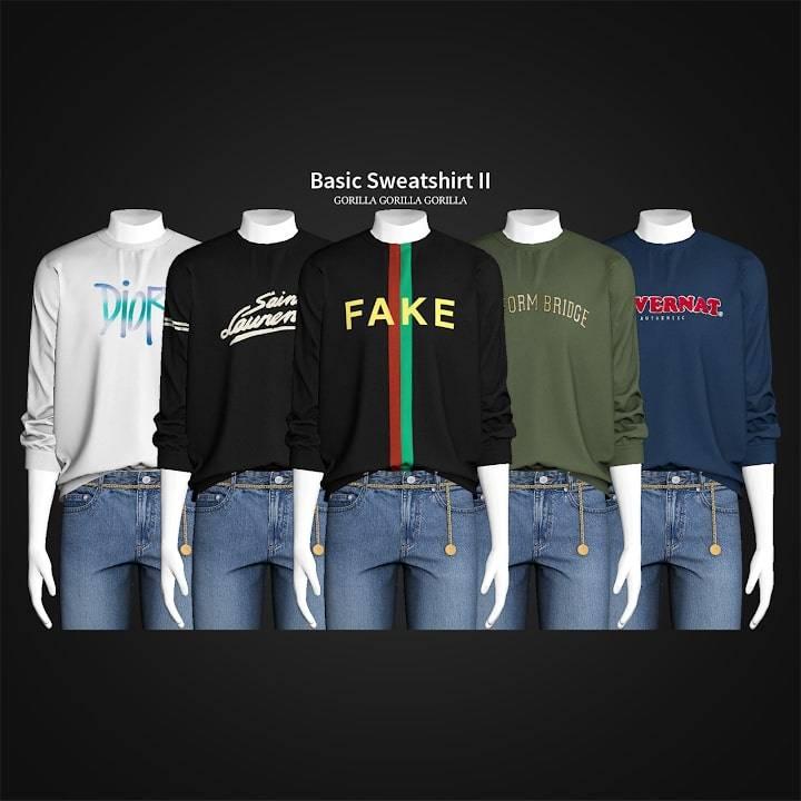 Мужской свитшот - Basic Sweatshirt II