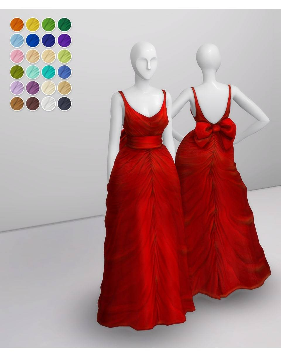 Платье - Shape with Bow Gown