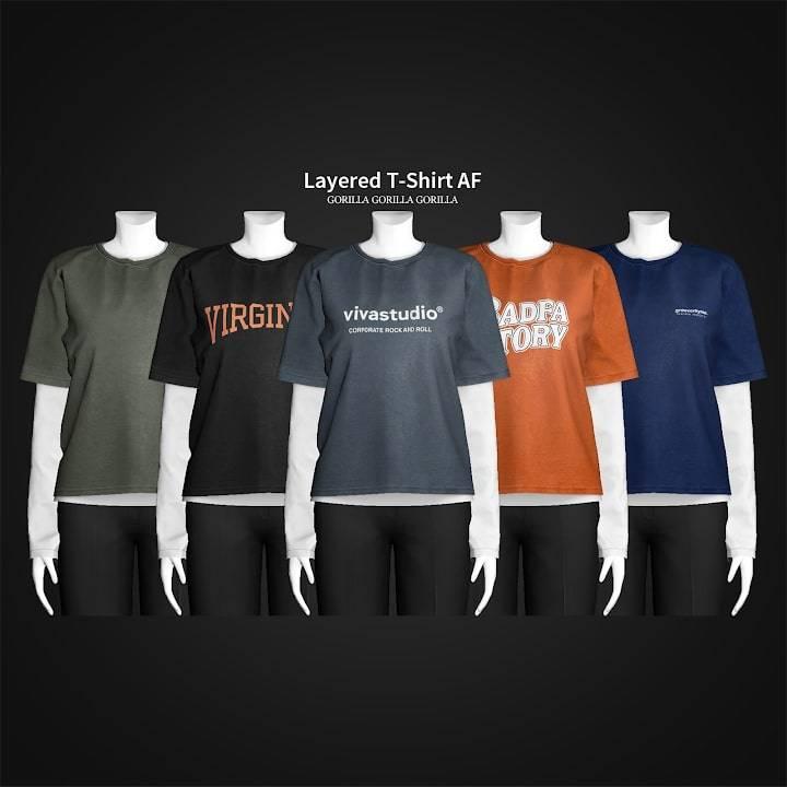 Кофта и футболка - Layered T-Shirt AF