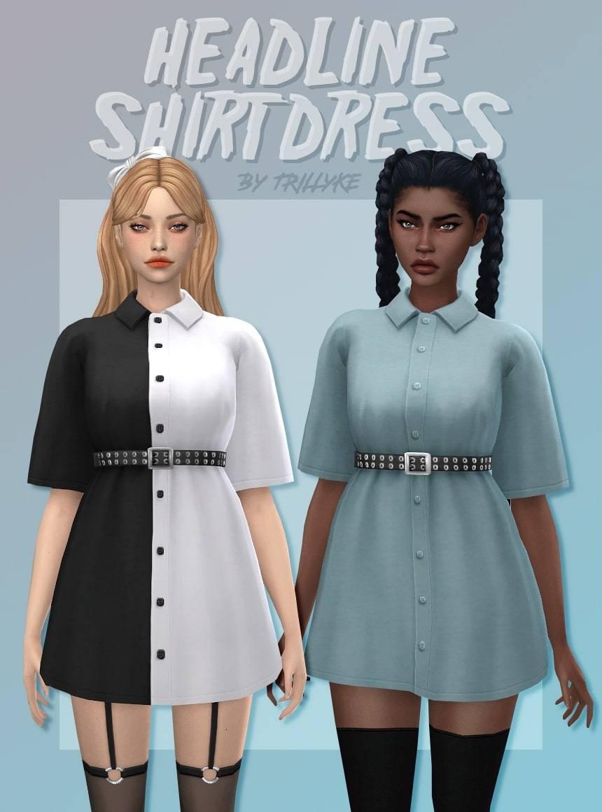 Женская рубашка - HEADLINE SHIRT DRESS