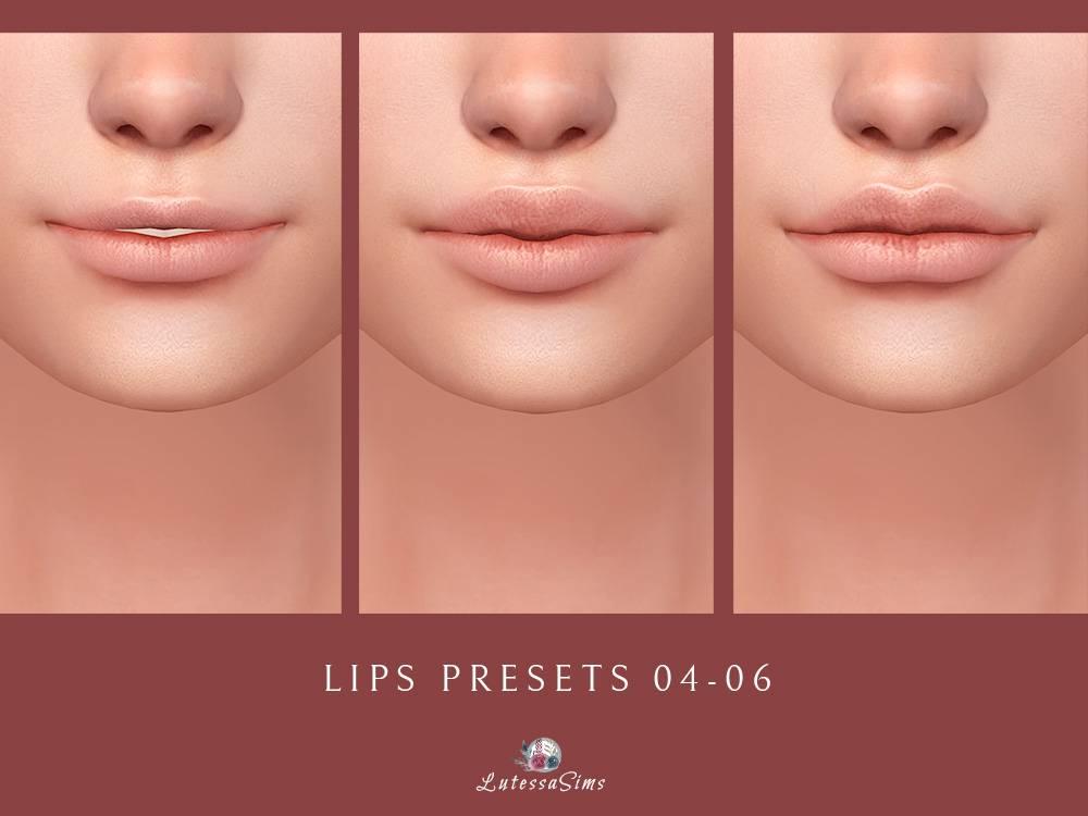 Пресеты рта - Lips Presets 04-06