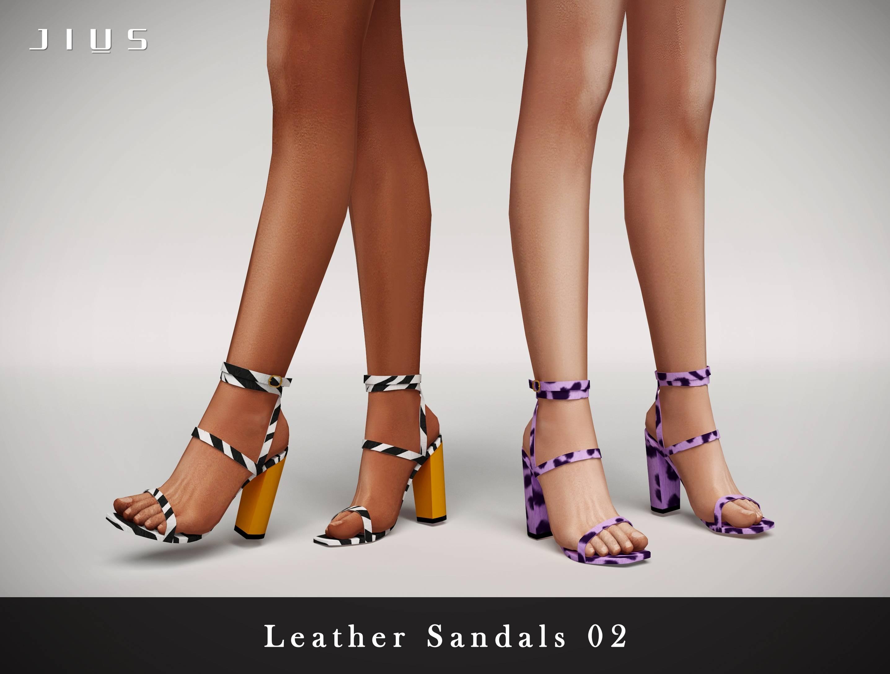 Босоножки - Leather Sandals 02