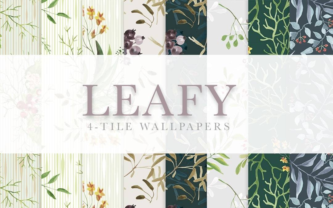Обои - Leafy Wallpaper