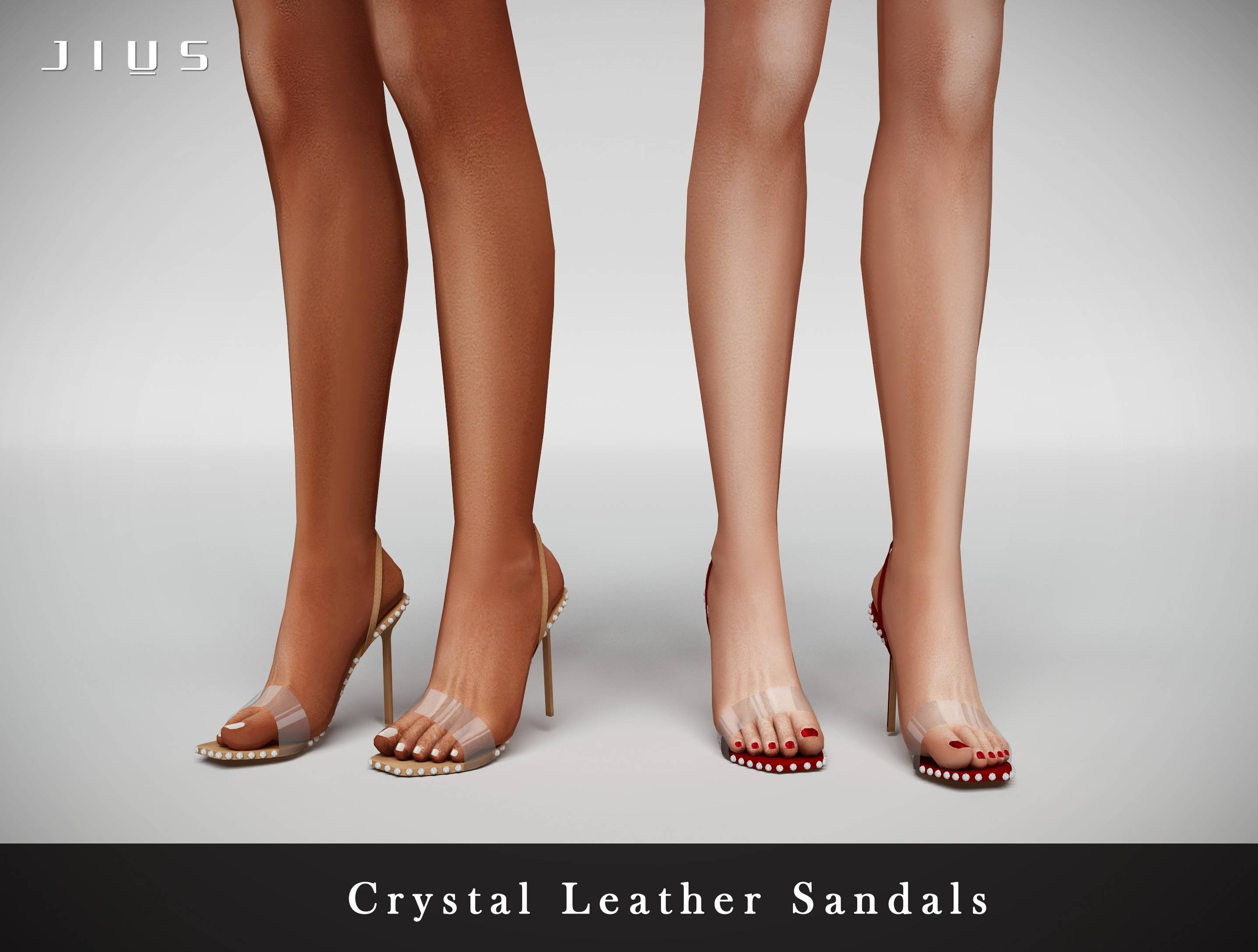 Босоножки - Crystal Leather Sandals 01