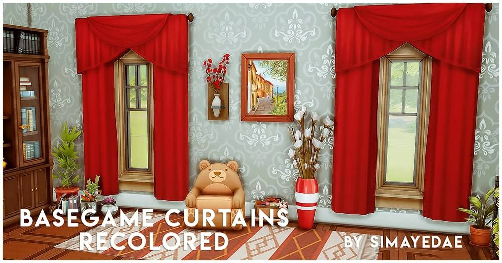 Набор штор - BG curtains recolored