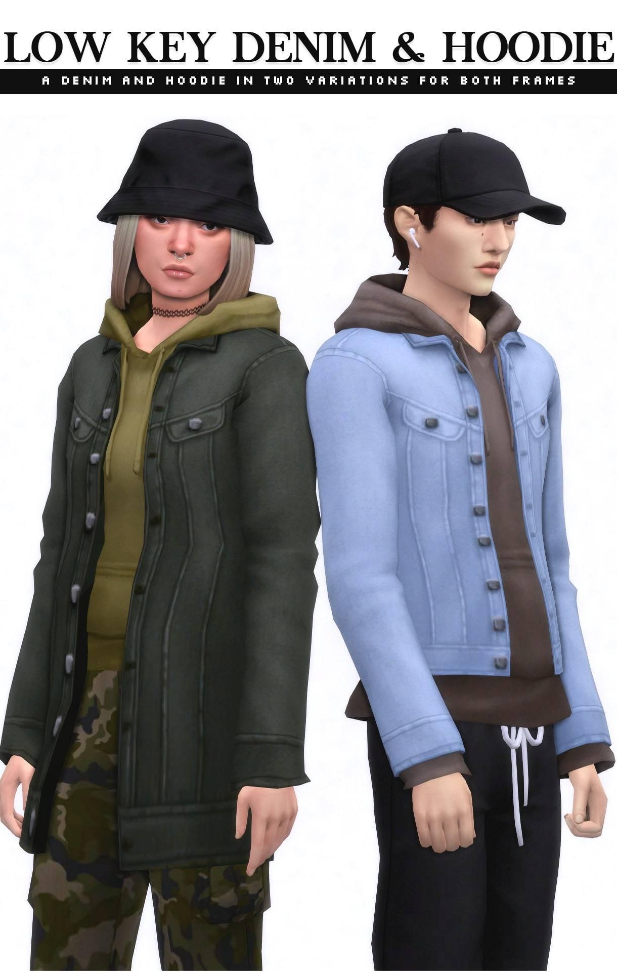 Куртка и худи - Low Key Denim & Hoodie Set