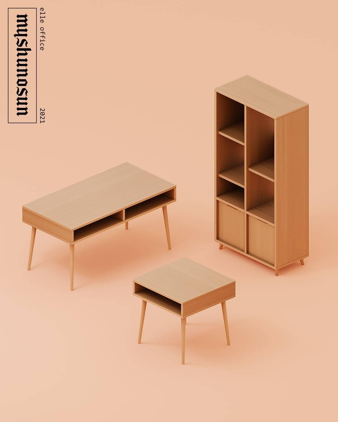 Набор мебели для рабочего кабинета - elle office surfaces