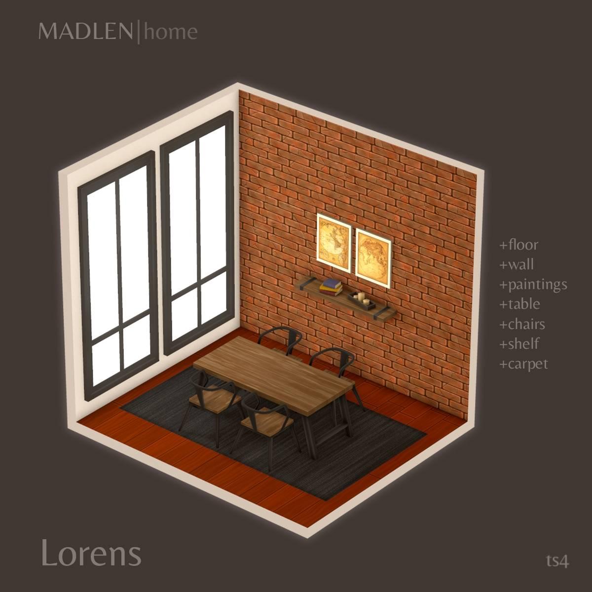 Сет для столовой комнаты - Lorens Dining Set