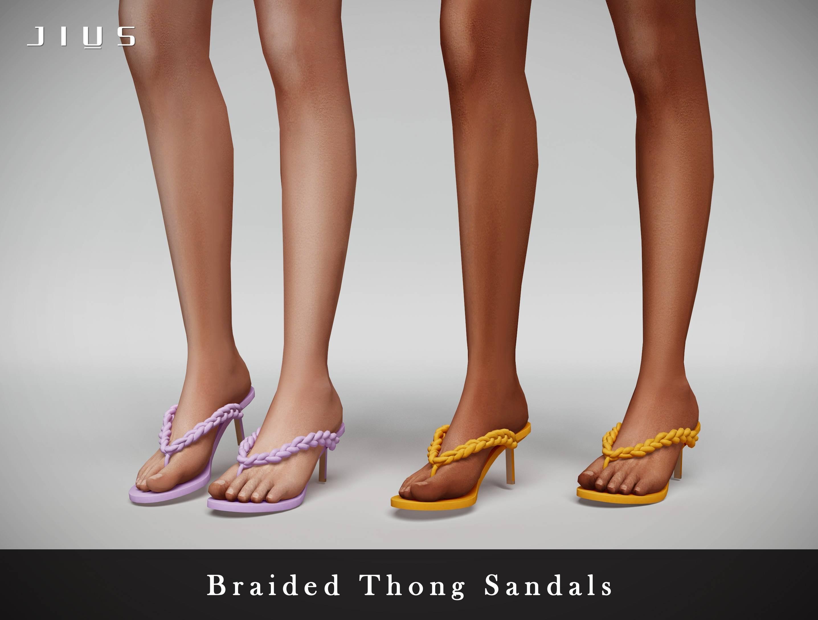 Женские сандалии - Braided Thong Sandals