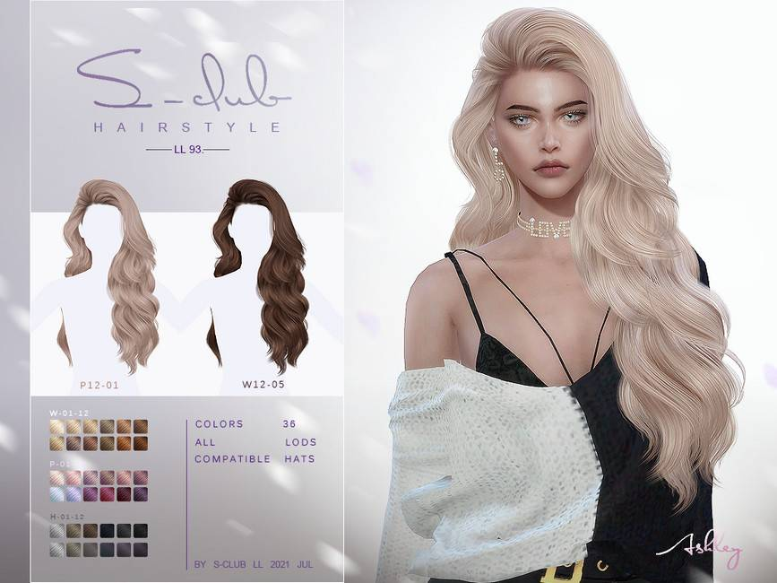 Женская прическа - Long curly hairstyle