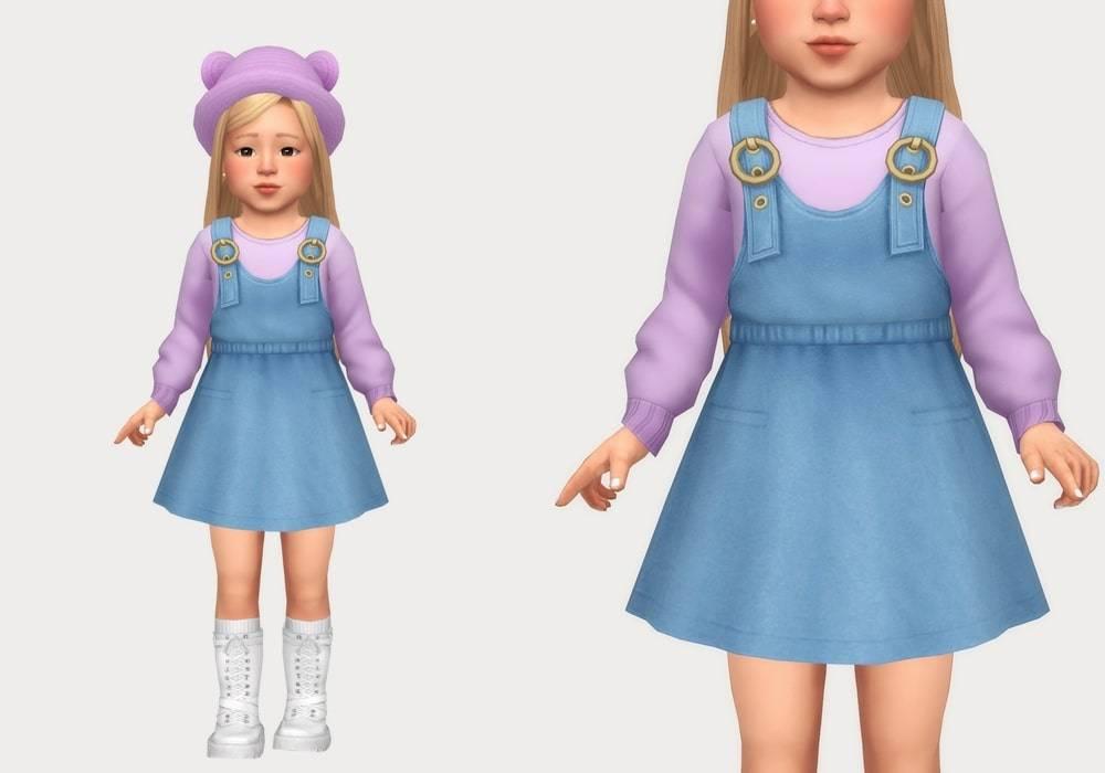 Сарафан и свитер - denim overall dress