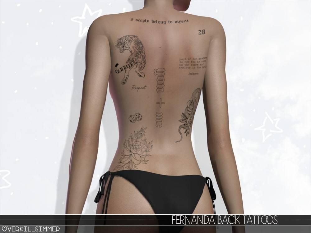 Тату сет - Fernanda Back Tattoos