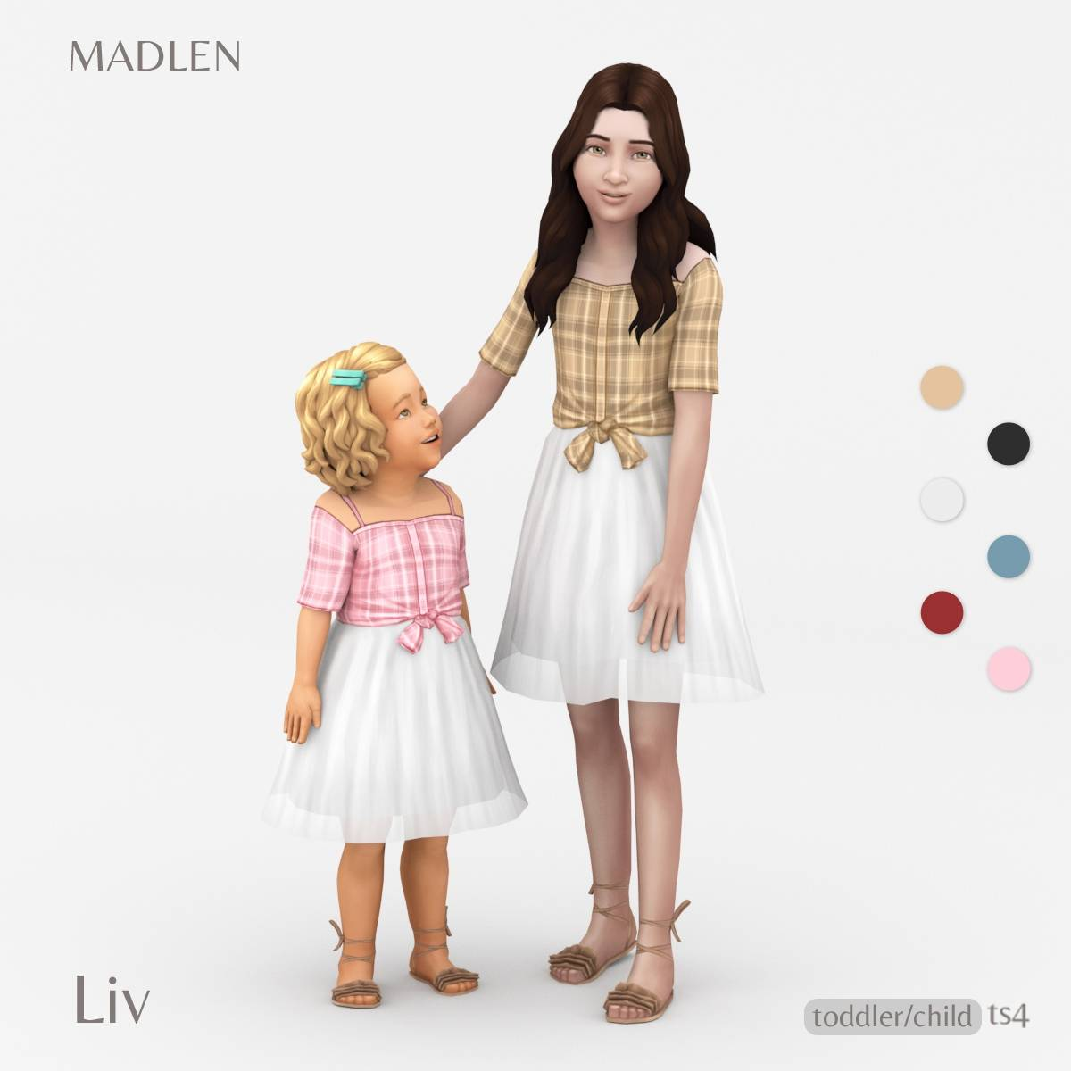 Рубашка и юбка для девочек и малышек - Liv Outfit