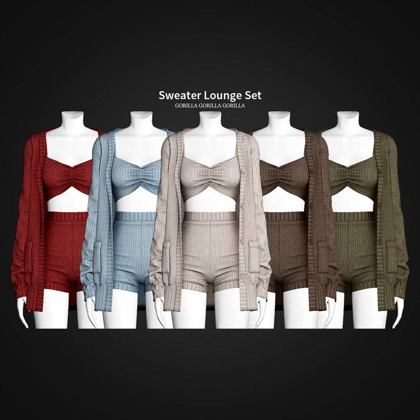 Наряд для симки - Sweater Lounge Set