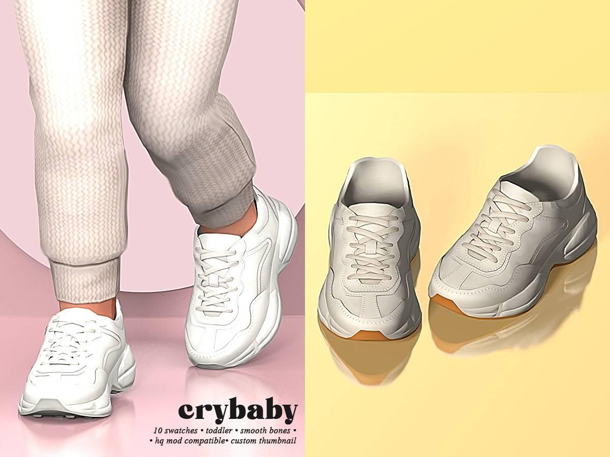 Кроссовки для малышей - withe leather sneakers