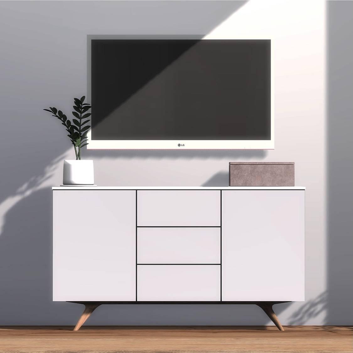 Декоративный стол и коробка - Arctic Sideboard And Velvet Box