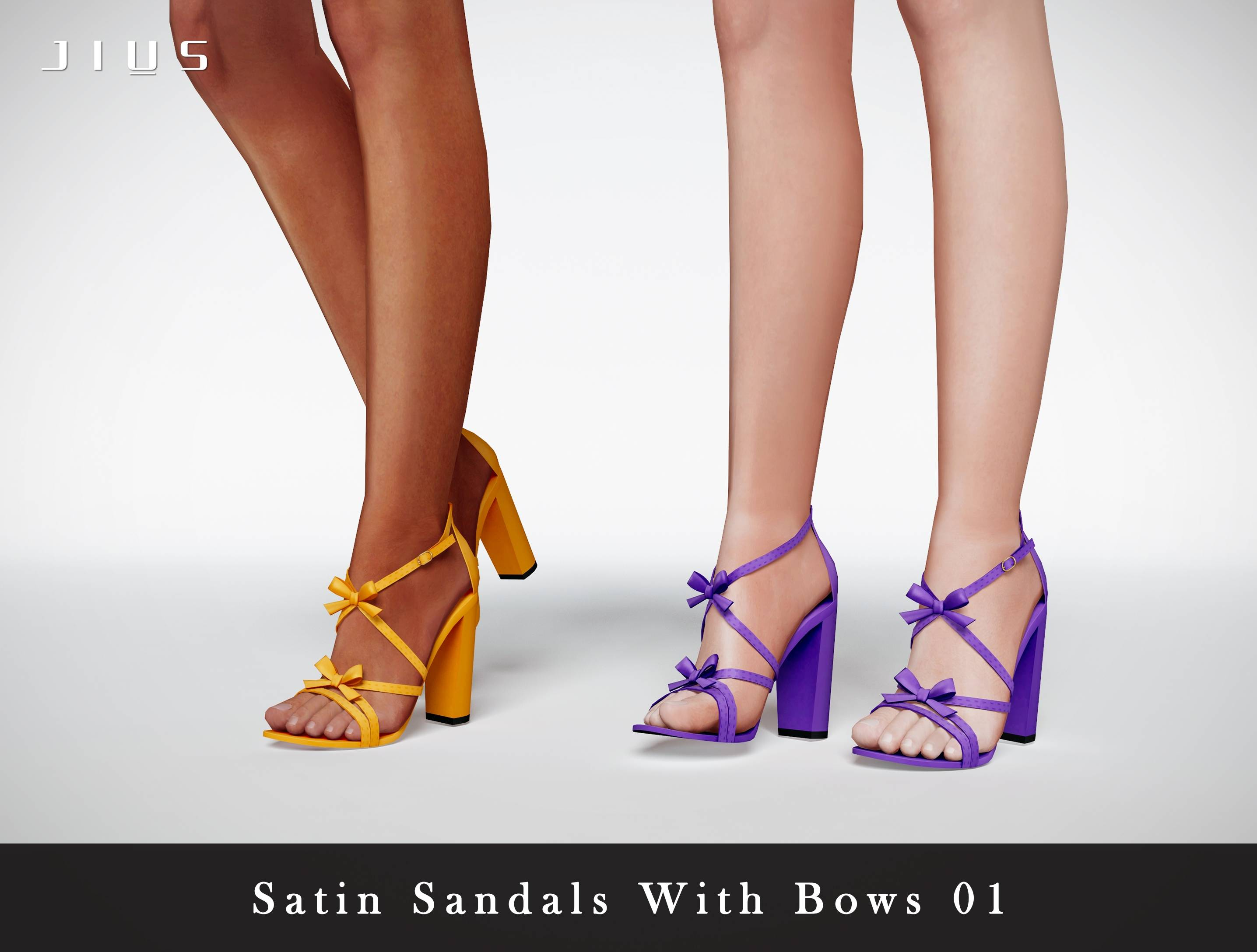 Босоножки - Satin Sandals With Bows 01