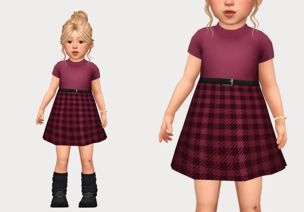 Платье для малышек - gingham belt dress