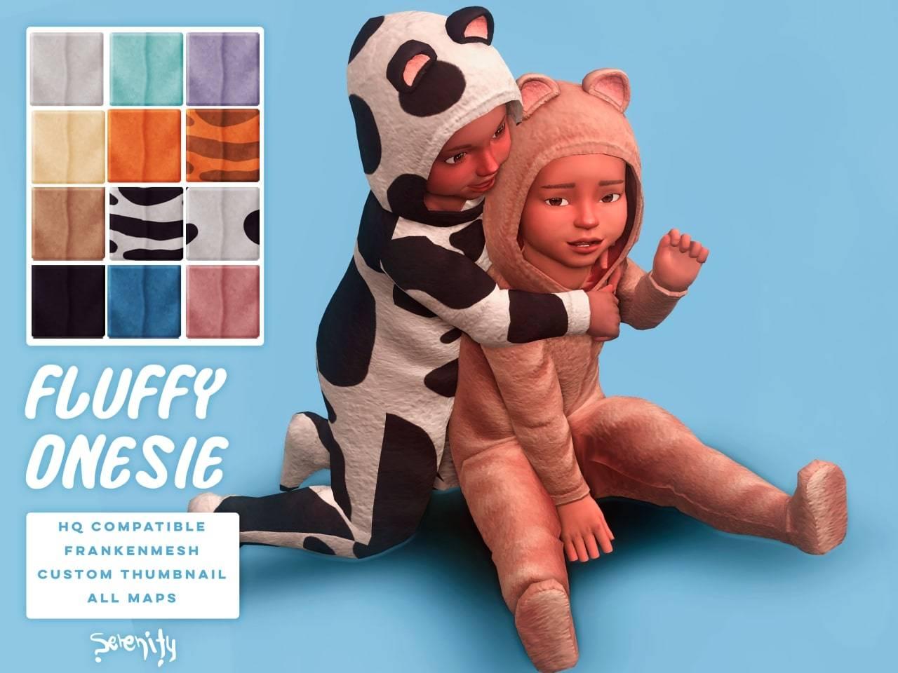 Комбинезон для малышей - fluffy onesie