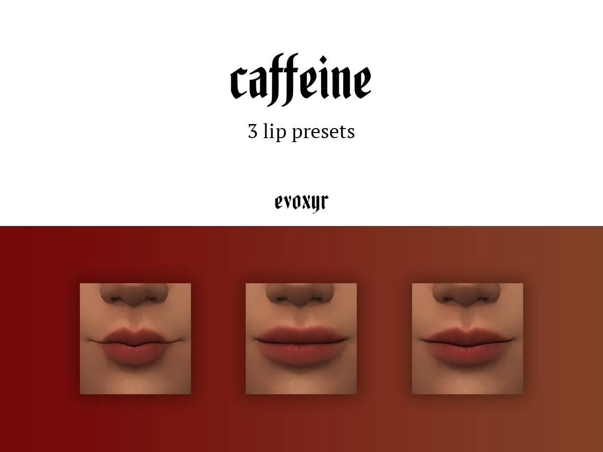 Пресеты губ - caffeine lip presets