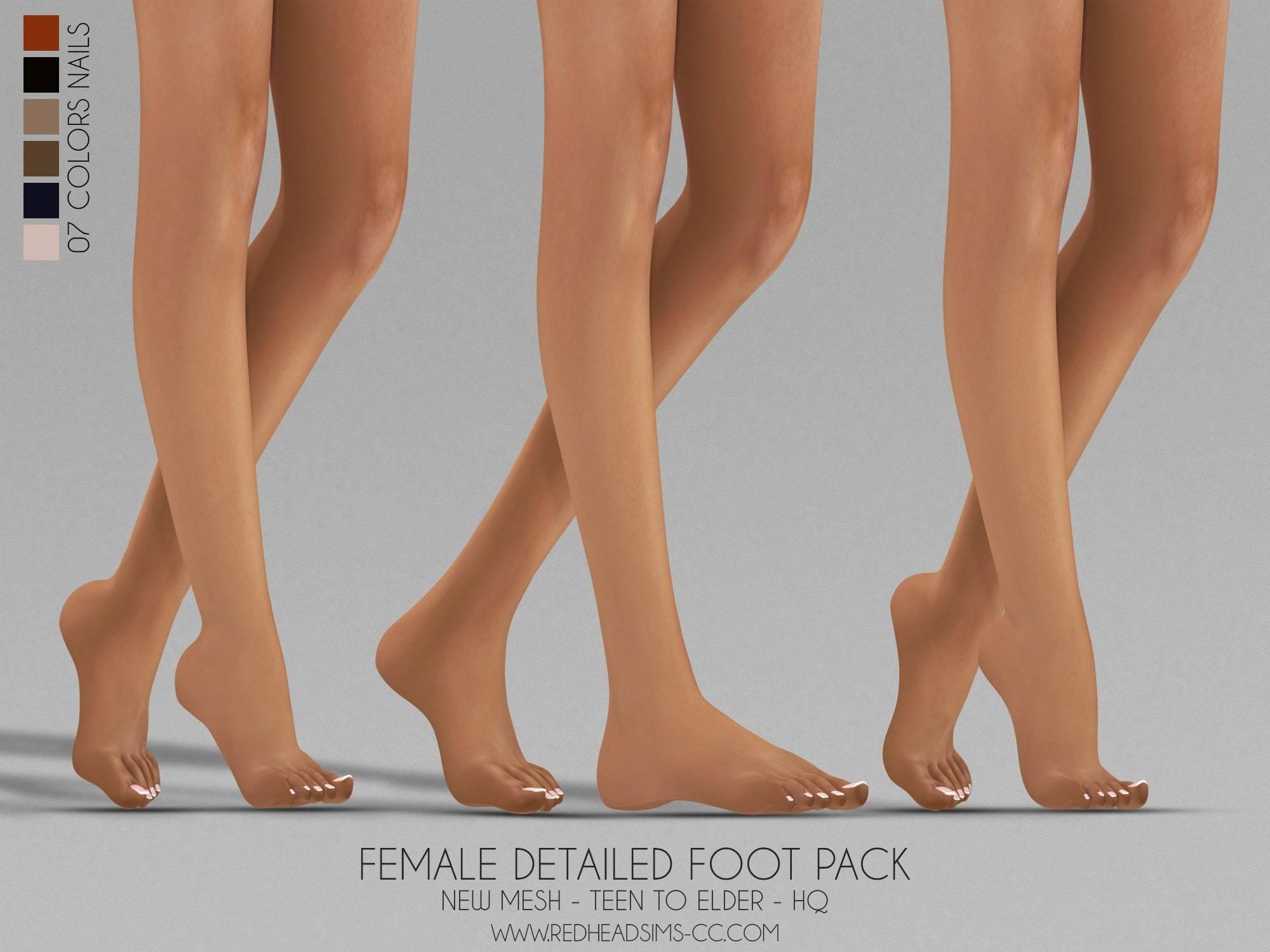 Маски для ног - FEMALE DETAILED FOOT PACK