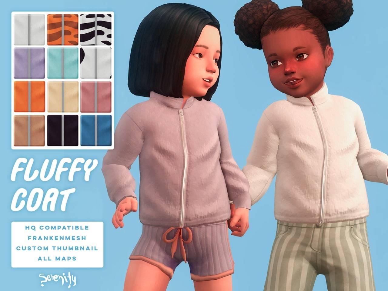 Кофта для малышей - fluffy coat
