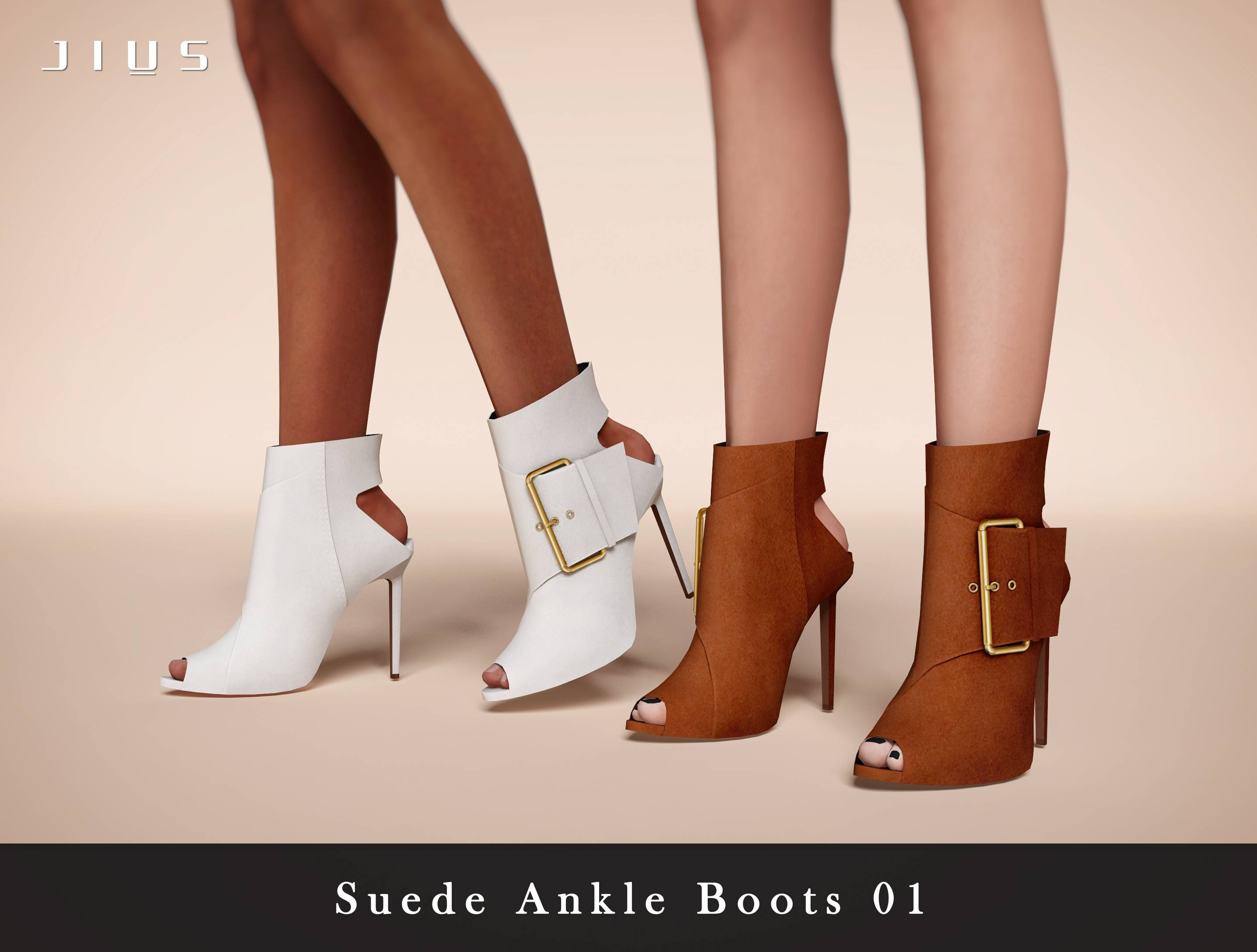 Ботильоны - Suede Ankle Boots 01