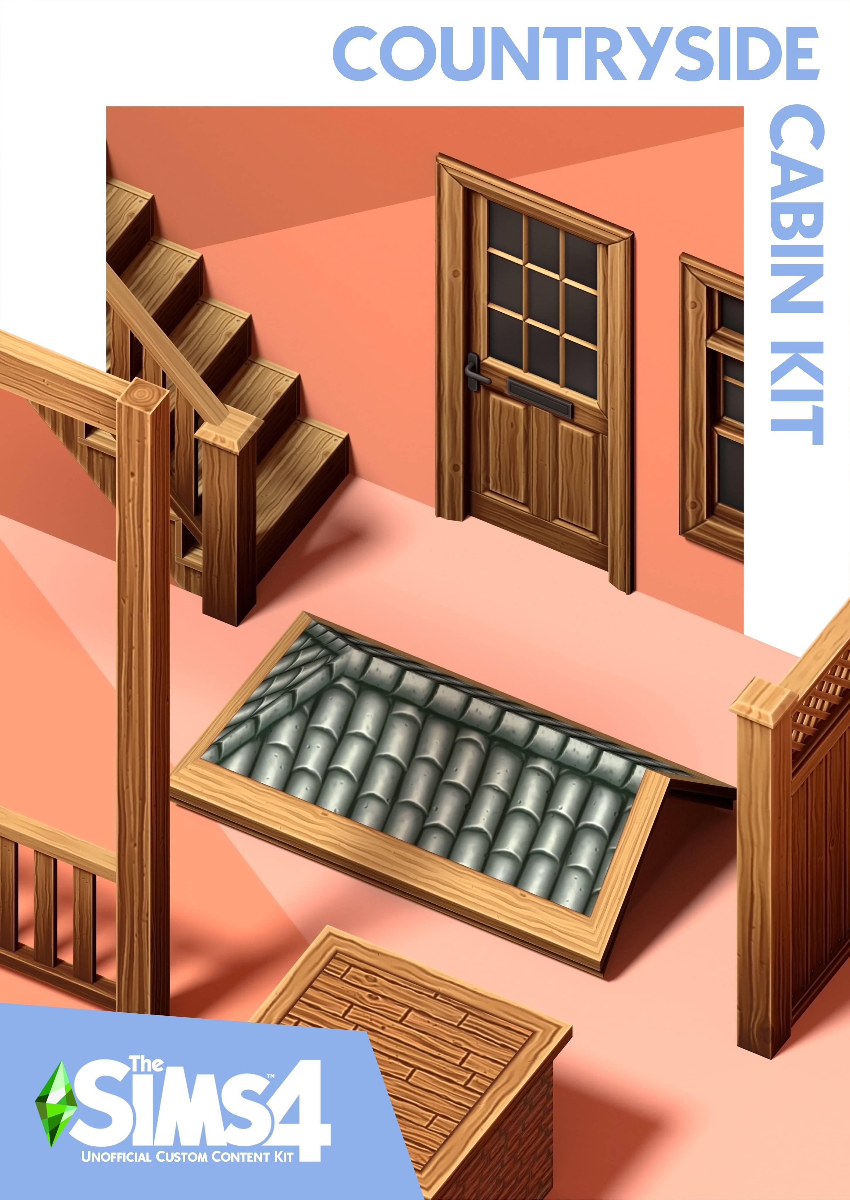 Строительный комплект - The Sims 4 Countryside Cabin Kit