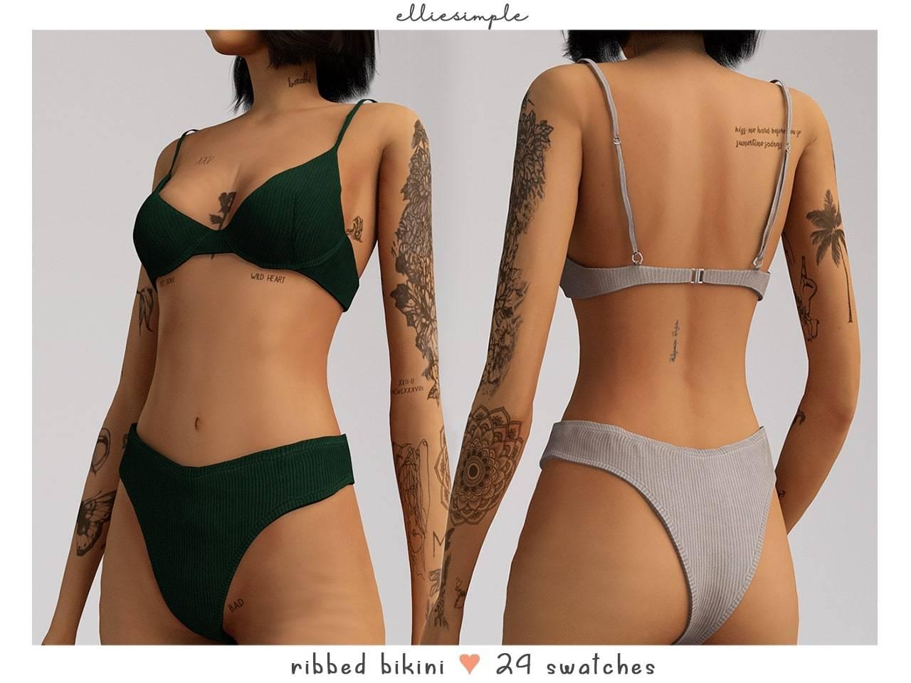 Купальник - ribbed bikini