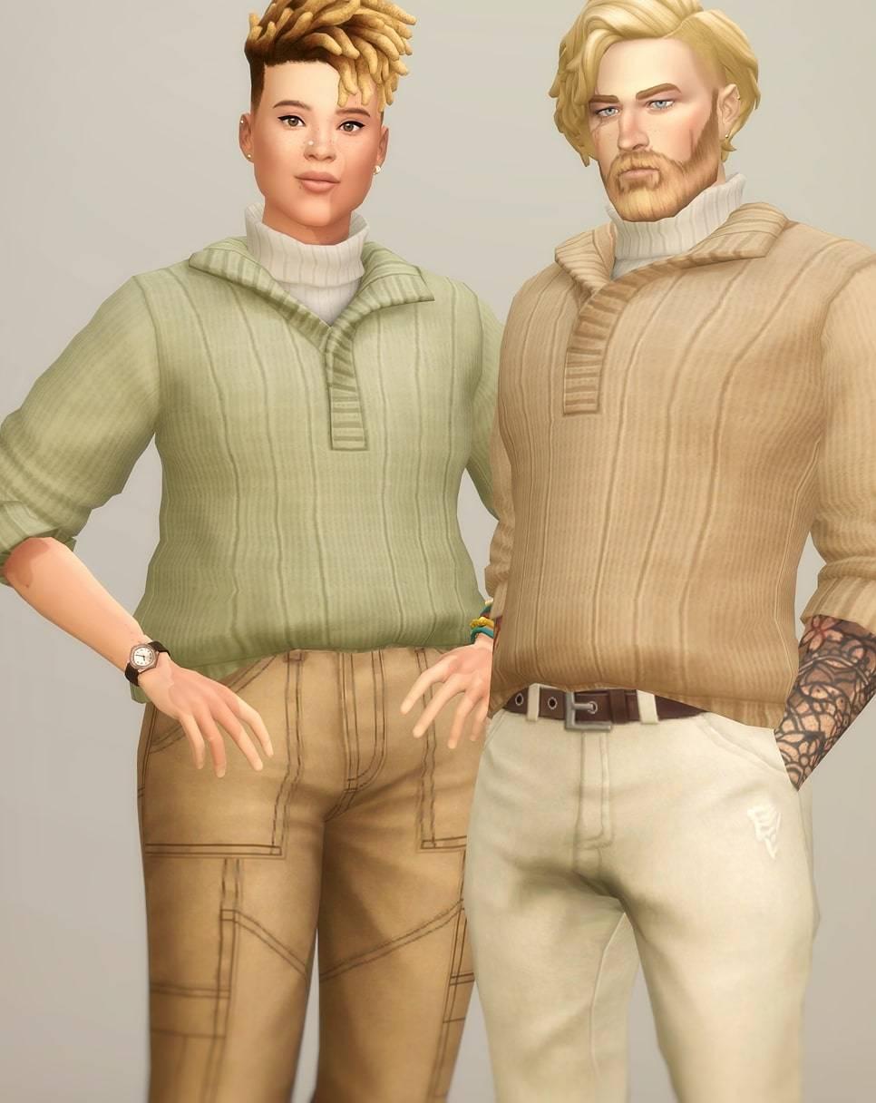 Водолазка и свитер - Basic Sweater VI 2 turtleneck (Roll-up)
