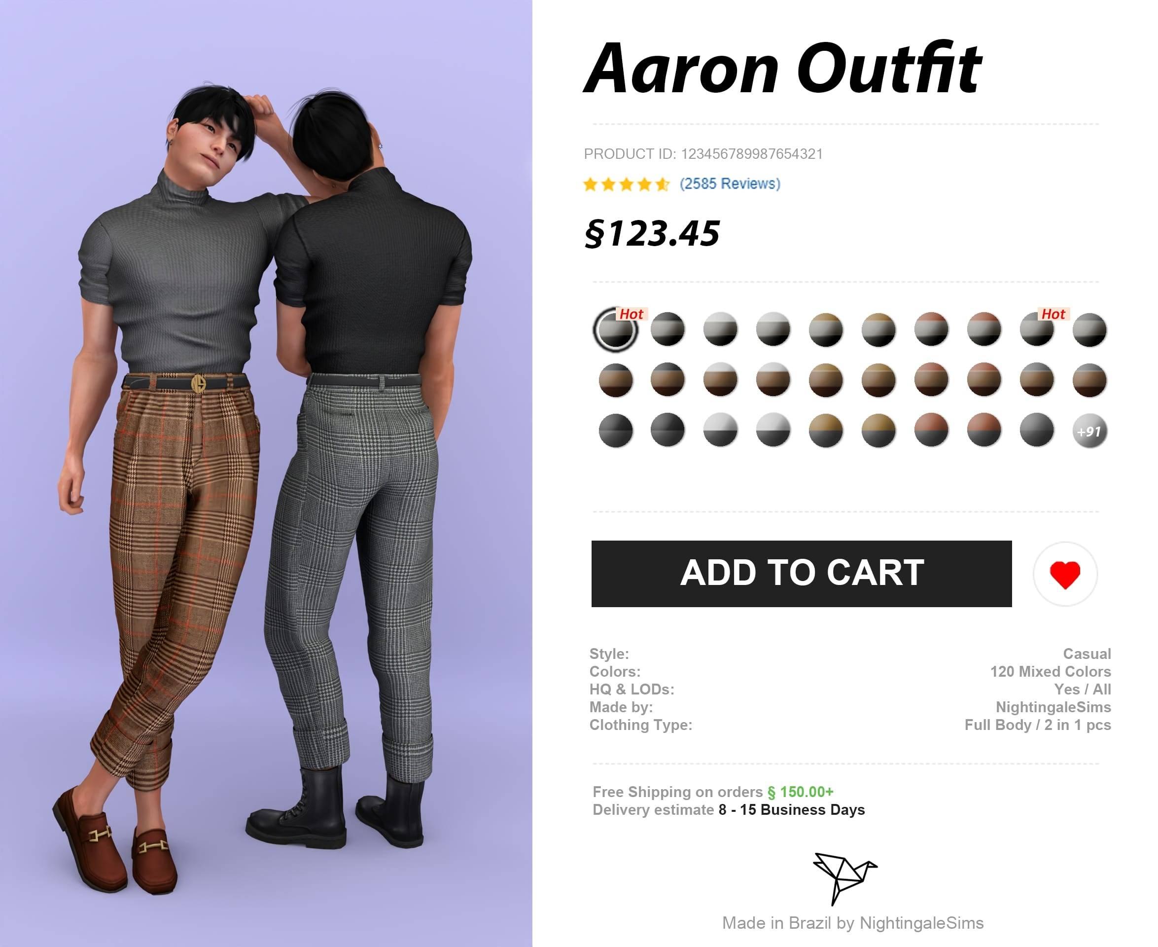 Кофта и брюки - Aaron Outfit
