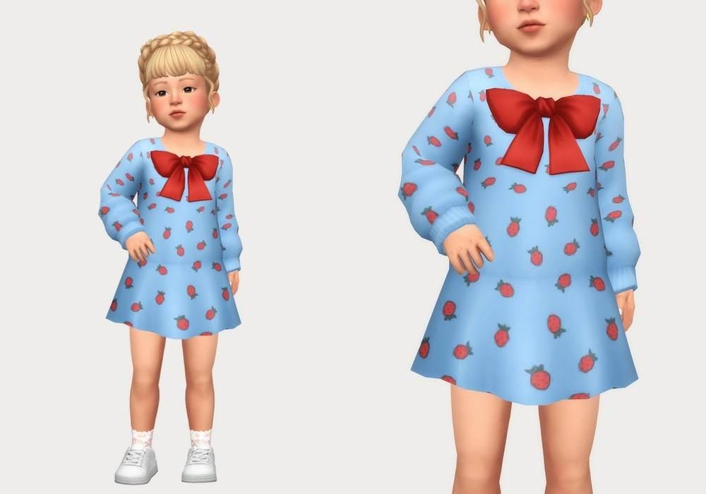 Платье для малышек - ribbon sweater dress