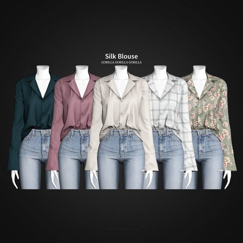 Блузка - Silk Blouse