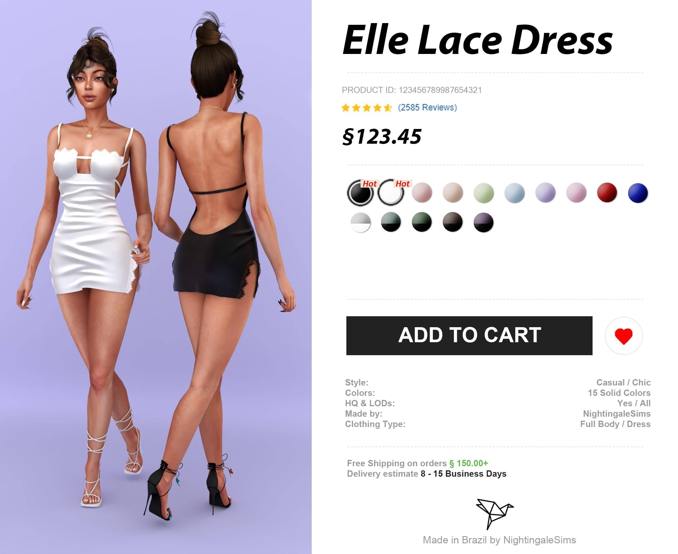 Платье - Elle Lace Dress