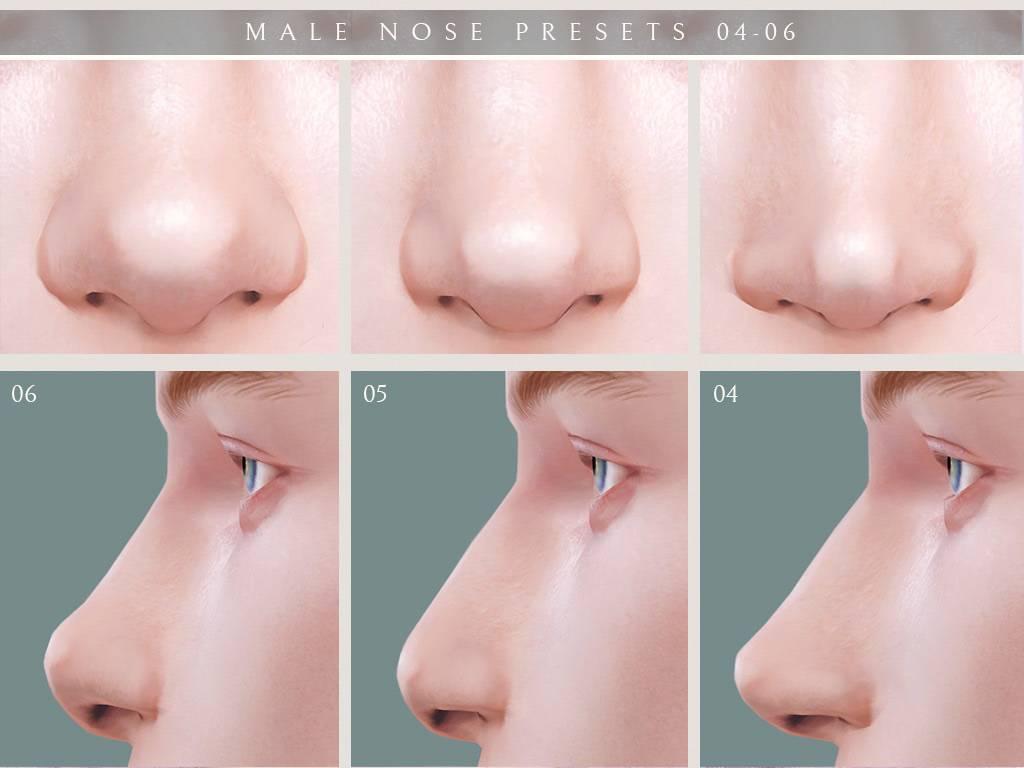 Пресеты для носа - Male Nose Presets 04-06